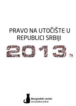 Pravo na utočište u Republici Srbiji 2013