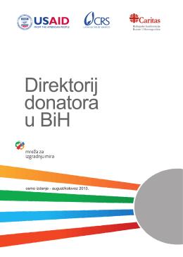 Direktorij donatora u BiH osmo izdanje, avgust/kolovoz 2013.