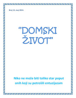 Broj 13, maj 2014. - Gerontološki centar Sarajevo