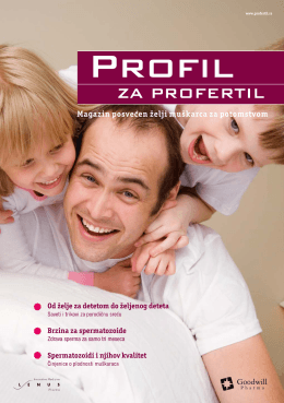 Magazin posvecen želji muškarca za potomstvom