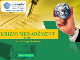 Predavanja II dio - Fakultet za menadžment Herceg Novi