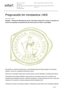 Medijske objave – Advokatska komora Srbije 12.12.2014 1