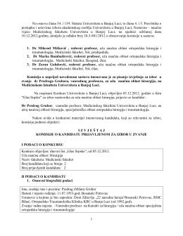 1 Na osnovu člana 54. i 139. Statuta Univerziteta u