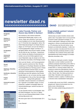 newsletter daad.rs - DAAD Informativni Centar Beograd