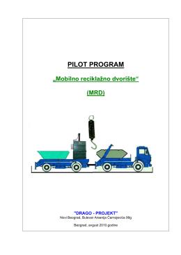 """PILOT PROGRAM """"Mobilno reciklažno dvorište"""""""