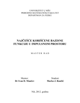 thesis PDF (in Serbian)  - Theoretical Physics at University