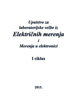 Praktikum EM i MuE - Katedra za električna merenja