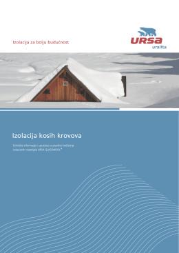 PRIRUČNIK URSA toplotna izolacija kosih krovova 2013