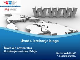 Uvod u kreiranje bloga