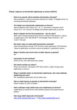 serbisch - Merkblatt Biometrischer Ausländerausweis