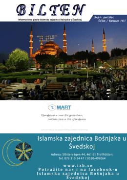 Bilten br. 4 - Islamska zajednica Bošnjaka u Švedskoj