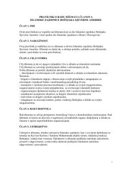Pravilnik o radu dzemata