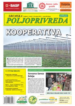 Sremska poljoprivreda broj 8 25. januar 2013.