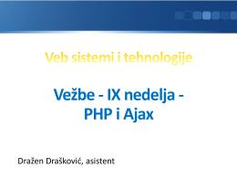 PHP i Ajax