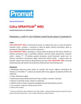 Cafco SPRAYFILM WB2