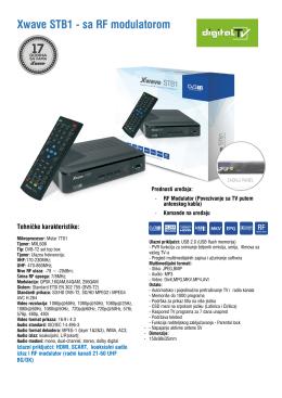 Xwave STB1 - sa RF modulatorom