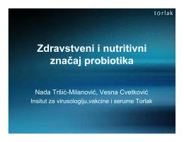 Zdravstveni i nutritivni značaj probiotika