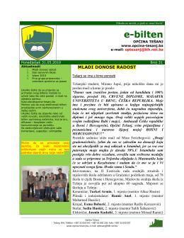 e-bilten - TESANJ.NET