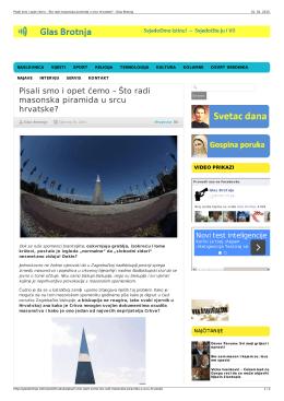 Pisali smo i opet ćemo – Što radi masonska piramida u srcu hrvatske?