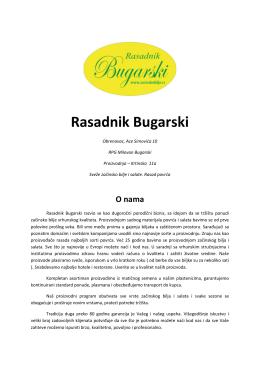 katalog - Rasadnik Bugarski