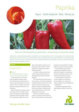 Novi hibridi paprike za plasteničku i proizvodnju na otvorenom polju