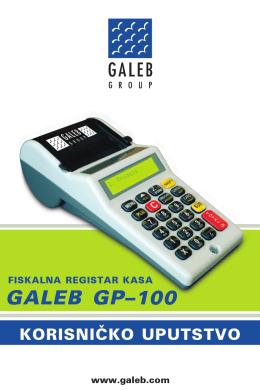 Korisničko uputstvo GP-100