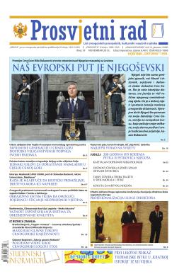 """""""PROSVJETNI RAD"""" broj 19 (novembar 2013.)"""