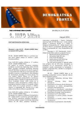 Bilten maj - juni 2014 | PDF - Demokratska fronta Unsko