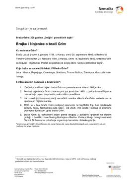 Brojke i činjenice o braći Grim (PDF 229 KB)