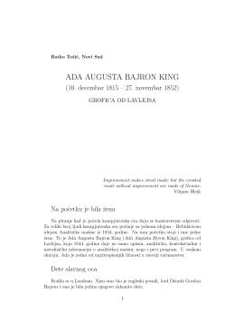 ADA AUGUSTA BAJRON KING