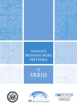 Analiza primene mere pritvora u Srbiji
