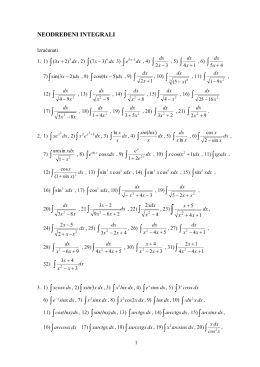 Matematika - Zadaci za vežbanje za ispit i ispitna pitanja