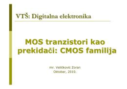 MOS tranzistori kao prekidači: CMOS familija