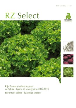 Rijk Zwaan sortiment salate za Srbiju i Bosnu i Hercegovinu 2012