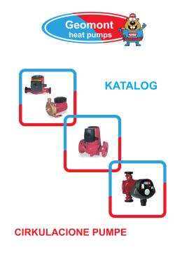 Katalog cirkulacionih pumpi