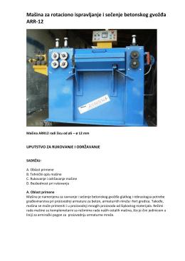 Mašina za rotaciono ispravljanje i sečenje betonskog gvožđa ARR-12
