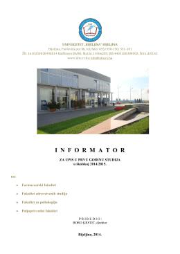 Informator - Univerzitet Bijeljina