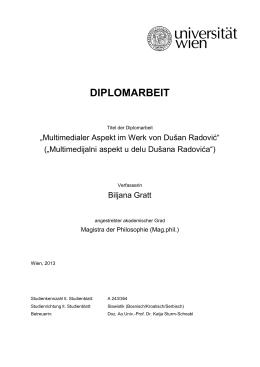 DIPLOMARBEIT - Universität Wien