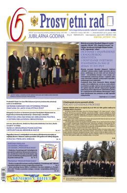"""""""PROSVJETNI RAD"""" broj 22 (februar 2014.)"""