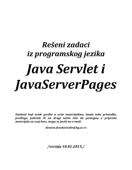 Java Servleti i Java Server Pages