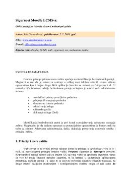 Pročitaj kompletan priručnik u PDF formi prilagođenoj štampanju