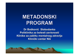 METADONSKI PROGRAM