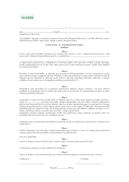 Ugovor sa prodavcem - Faunder Nekretnine