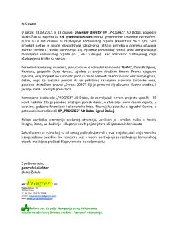 ovdje - KP Progres ad Doboj