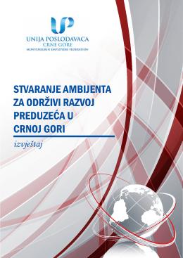 Stvaranje ambijenta za održivi razvoj preduzeća u Crnoj Gori