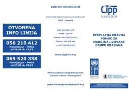 otvorena info linija 056 210 412