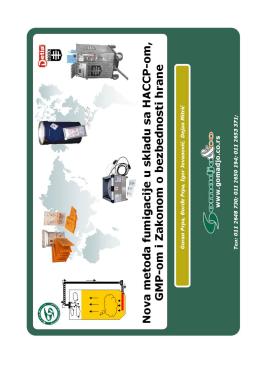Nova metoda fumigacije u skladu sa HACCP-om, GMP