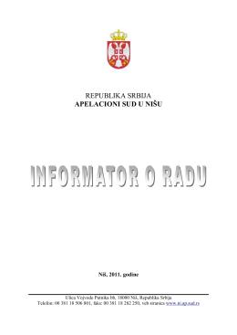 REPUBLIKA SRBIJA APELACIONI SUD U NIŠU