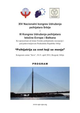 finalni program - Udruženje Psihijatara Srbije