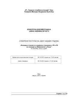 """ЈП ,,Градска стамбена агенција"""" Ниш Генерала Милојка"""